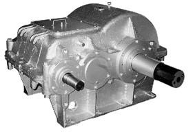 Редуктор двухступенчатый шевронный с зацеплением Новикова для станков-качалок с тяговым усилием 6 т. типа Ц2НШ-450.